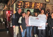 Stockton Wingstop Honored with Flying Aces Award