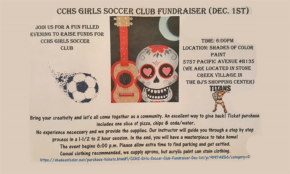 CCHS Girls Soccer Club Fundraiser