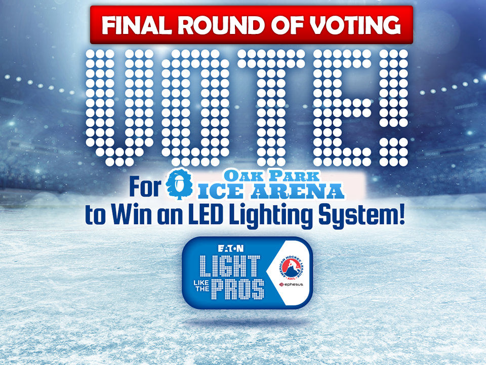Oak Park Ice Arena Moves on to the Finals in Light Like the Pros Contest
