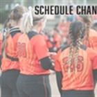 Predicted Rain Forces Softball Schedule Change