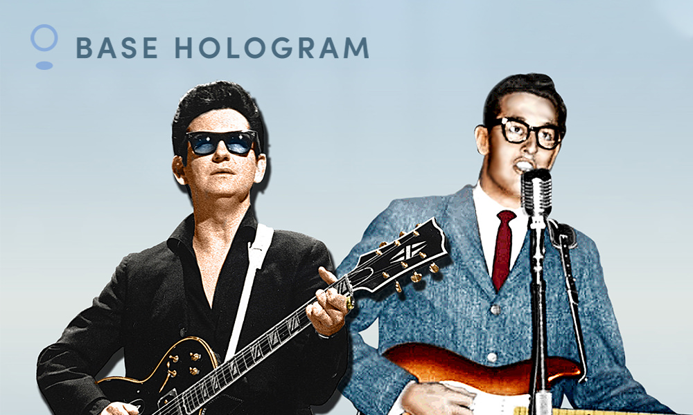 Base Hologram: Roy Orbison & Buddy Holly Playing Bob Hope Theatre