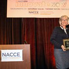 Delta College's Lorinda Forrest receives the National Association for Community College Entrepreneurship