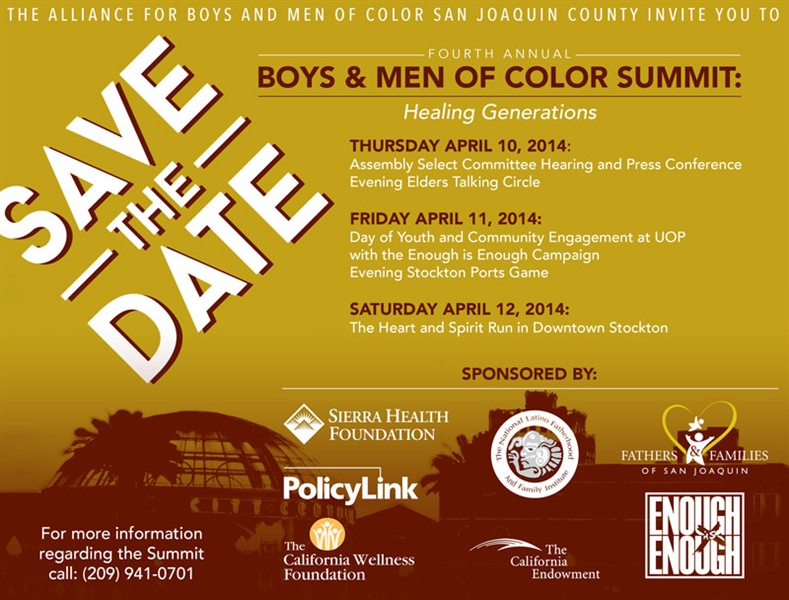 "4th Annual Boys and Men of Color (BMoC) Summit-""Healing Generations"""
