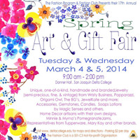The San Joaquin Delta College Fashion Program's Spring Art & Gift Fair