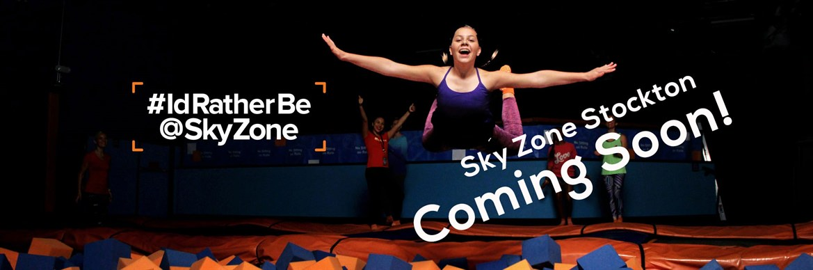 Sky Zone Indoor Trampoline Park Jumps Into Stockton