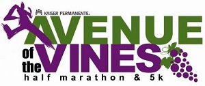9th Annual Kaiser Permanente Avenue of the Vines Half Marathon & 5K presented at Woodbrige Winery.