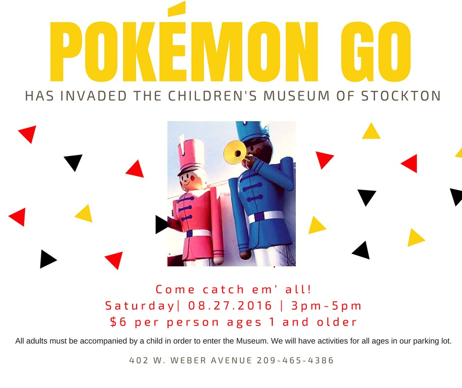 Pokemon Go at the Children's Museum of Stockton