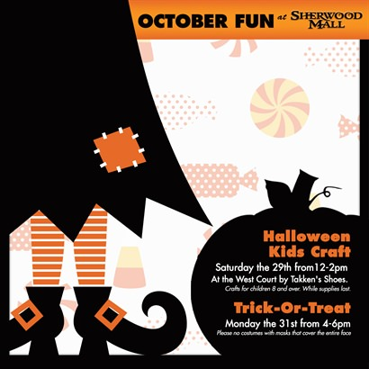 Trick-or-Treat at Sherwood Mall